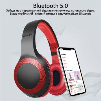 Накладні Bluetooth навушники Promate LaBoca Bluetooth 5.0 Red (laboca.red)