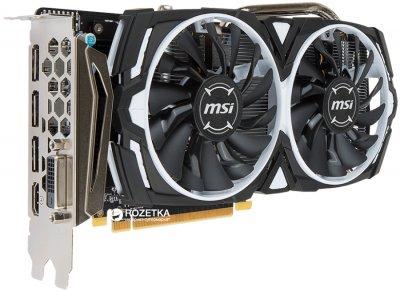 MSI PCI-Ex Radeon RX 570 ARMOR 4G OC GDDR5 (256bit) (1268/7000) (DVI, HDMI, 3 x DisplayPort) (RX 570 ARMOR 4G OC)