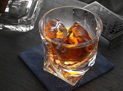 Набір низьких стаканів для віскі Bohemia Quadro 340 мл 6 шт (2K936/99A44/340)