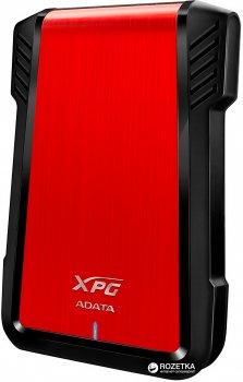 """Внешний карман ADATA для установки SSD/HDD 2.5"""" SATA III - USB 3.1 Red (AEX500U3-CRD)"""