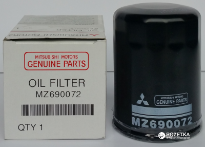 Фильтр масляный Mitsubishi ACX бензин 1.6, 1.8, 2.0 (10->), Carisma бензин 1.6, 1.8, 2.0 (95->06) (MZ690072)