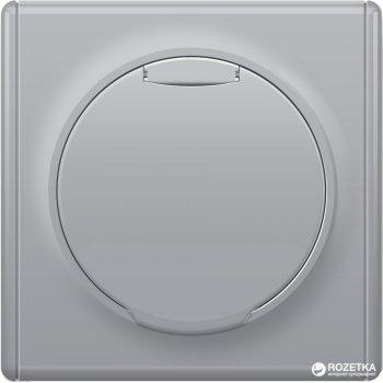 Розетка с крышкой и заземлением OneKeyElectro Florence Серая (1Е10501302)