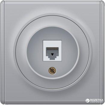 Телефонная розетка OneKeyElectro Florence 1xRJ11 Серая (1Е20601302)