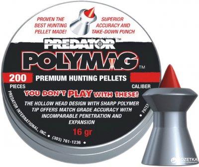 Свинцеві кулі JSB Diabolo Predator Polymag 1.03 г 200 шт. (100201-200)