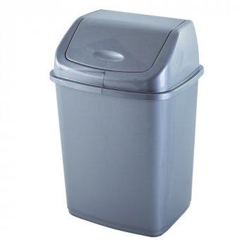 Відро для сміття 18 л Алеана, Сірий