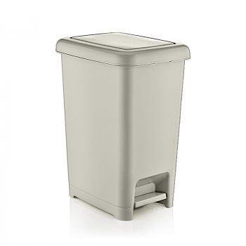 Відро для сміття з педаллю 10 л Slim Dunya Plastik 01042, Бежевий
