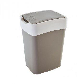 Відро для сміття 45 л Євро Алеана, Чорний/Білий