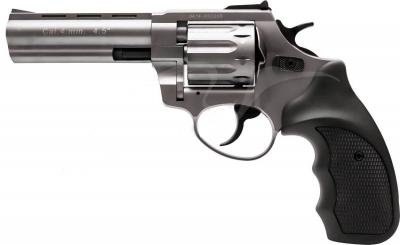 "Револьвер флобера STALKER 4.5 ""Титанове напилення. Матеріал рукояті - пластик"