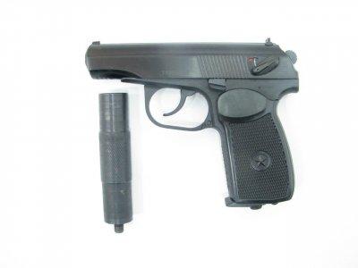 Пістолет пневматичний Байкал МР-654К 28 серія з імітатором глушника