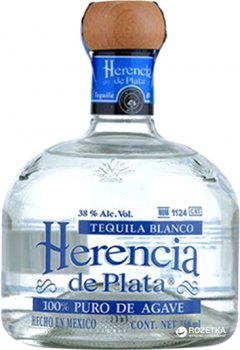 Текила Herencia De Plata 100% Agava Silver 0.7 л 38% (7501054834878)
