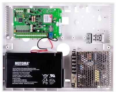 Прилад приймально-контрольний охоронно-пожежний Лунь-7Т (моноблок) технології бездротового з'єднання GSM