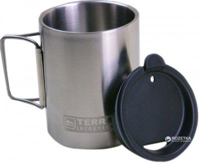 Термокухоль з кришкою Terra Incognita T-Mug 350 мл W/Cap Сріблястий (4823081504832)