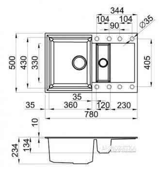 Кухонна мийка ELLECI Easy 325 Titano 68