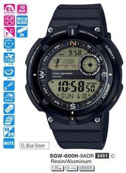 Чоловічий годинник Casio SGW-600H-9AER