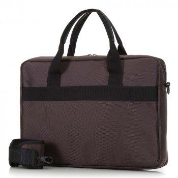 """Чоловіча сумка для ноутбука 15,6 """"класична 91-3P-700-4 коричнево-чорний"""