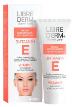 Маска - антиоксидант для лица Librederm Витамин E Увлажняющая 75 мл (4620002185756)