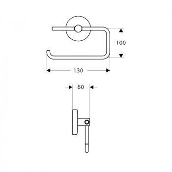 Тримач для туалетного паперу Lidz (CRM)-114.03.03