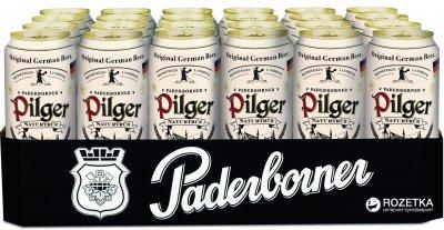 Упаковка пива Paderborner Pilger светлое нефильтрованное 5% 0.5 л х 24 шт (4101120004735)