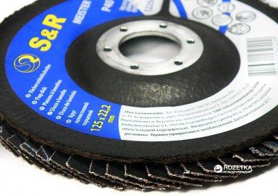 Круг зачистной лепестковый S&R Meister 125x22.2 мм зерно 40 мм (136125040)