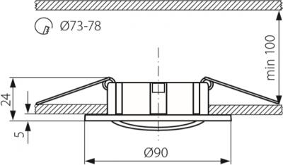 Світильник точковий Kanlux Simi CT-DTO50-AB (KA-19500)