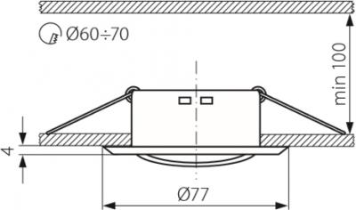 Світильник точковий Kanlux CT-2119-G ULKE OPRAWA (KA-312)