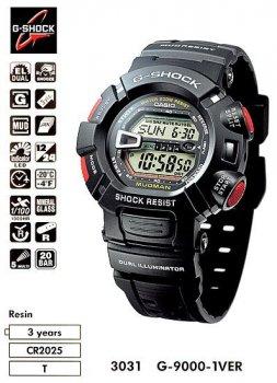 Годинник CASIO G-9000-1VER