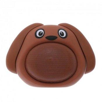 Колонка Собачка Bluetooth коричнева