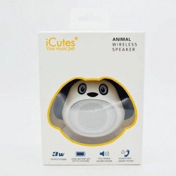 Колонка Собачка Bluetooth , біла