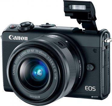 Фотоапарат Canon EOS M100 15-45mm IS STM Kit Black (2209C048AA)
