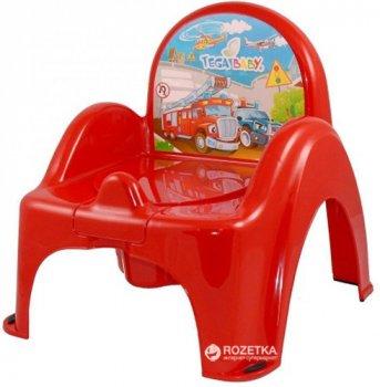 Дитячий горщик-крісло Tega Baby Cars CS-007 Red (Tega CS-007 red)