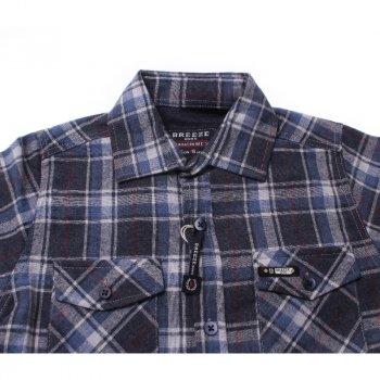 Рубашка для мальчика BREEZE G-354 голубой/т-синий