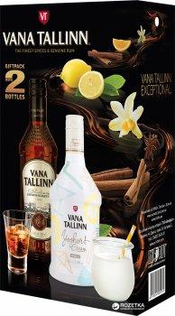 Ликер Vana Tallinn Original 0.5 л 40% + Vana Tallinn Yoghurt Cream 0.5 л 16% (4820196540045)