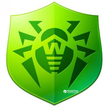 Антивірус Dr.Web Anti-virus 2 ПК/1 рік (електронний ключ у конверті)