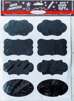 Крейдяний стикер-наклейка Santi 8 шт. (740825) (5009077408257)