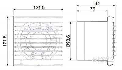 Вытяжной вентилятор SOLER&PALAU EDM-80 N