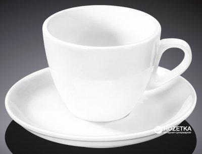 Чашка кофейная с блюдцем Wilmax 75 мл (WL-993173)