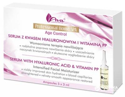 Сыворотка AVA Laboratorium с гиалуроновой кислотой и витамином РР 5 x 3 мл (5906323003306)