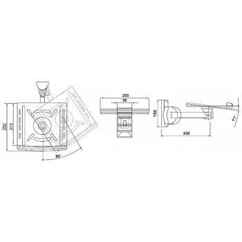 Кронштейн для колонок Electriclight AVA-01-25