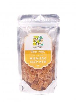 Цукати з ананаса Happy Nuts 100 г (MP040033)