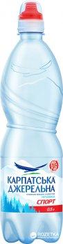 Упаковка минеральной негазированной воды Карпатська Джерельна Спорт 0.5 л x 12 бутылок (4820051240721)