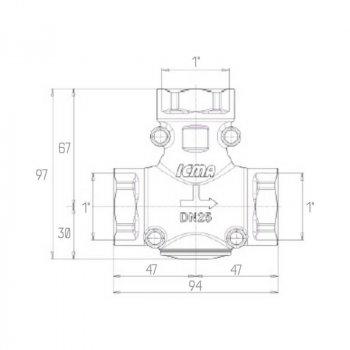 Антиконденсационный клапан Icma 1 До 45°C №133