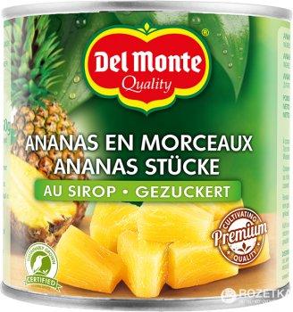 Ананас кусочками Del Monte в светлом сиропе 825 г (0024000170013)