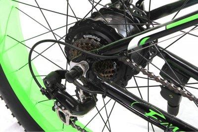 """Електровелосипед E-motion Fatbike 48V 1000 Вт 26"""" чорно-зелений (EFB-BLACK-GREEN)"""