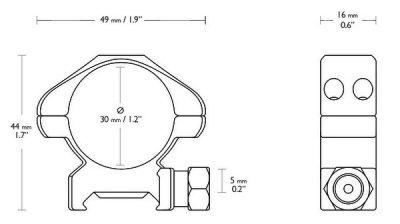 Кільця Hawke Precision 30 мм Weaver Medium (925039)