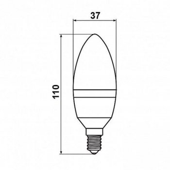 Світлодіодна лампа свічка 7W Biom BT-570 нейтральний світло 4500К C37 цоколь E14