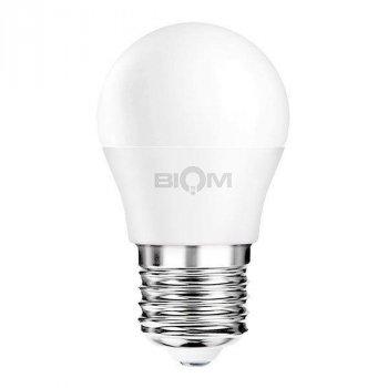 """Світлодіодна лампа Biom BT-564 """"матовий кулька"""" нейтральний світло 4500К 7 Вт G45 цоколь E27"""
