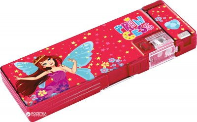 Пенал Cool For School Princess 2 отделения с точилкой Красный (CF85962)