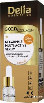 Мульти-активная сыворотка против морщин Delia cosmetics Gold & Collagen 10 мл (5901350469200)