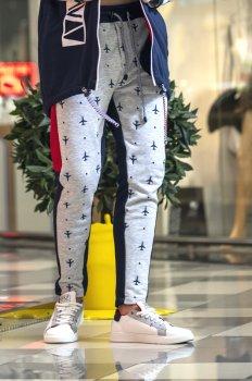 Спортивні штани VASILYEV for MAN Синьо-сірі