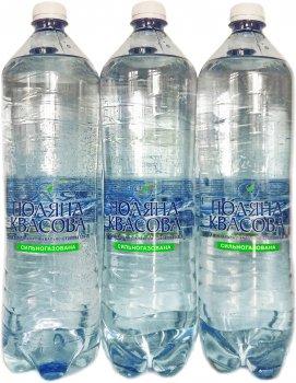 Упаковка минеральной лечебно-столовой сильногазированной воды ECO Life Поляна Квасова 1.5 л х 6 бутылок (4820001472295)